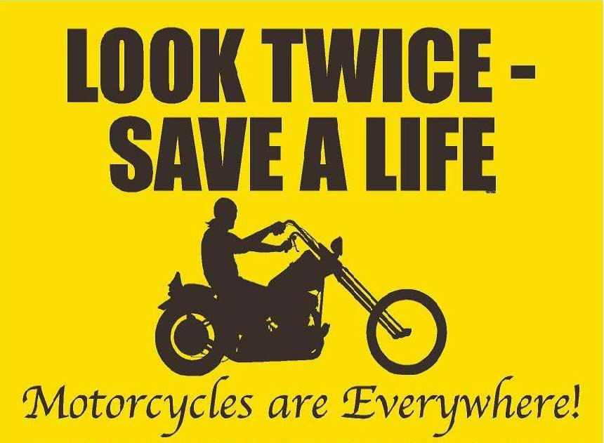 SHARE THE ROAD WITH MOTORCYCLES